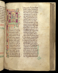Historiated initial With King David And His Musicians, In The Old Testament Books Of Josua To Kings